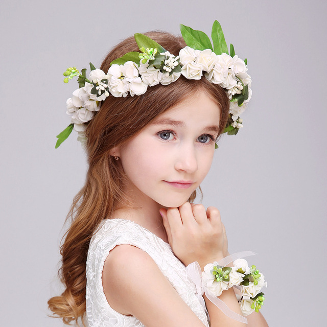 children flower headpiece girl hair accessories floral crown
