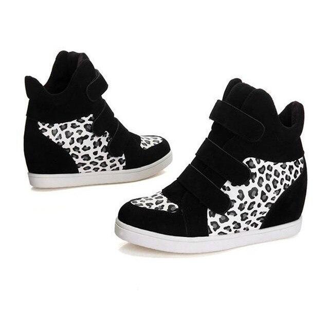 Women Shoes Autumn Winter Hidden Heel Flock Fashion Wedge Casual Shoes wholesale