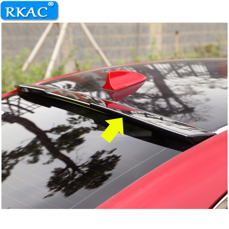 RKAC BLACK Rear Roof Lip Spoiler Car Styling Auto Car Rear Roof Spoiler Top Wing for For Mazda 6 ATENZA 2014-2018 стоимость