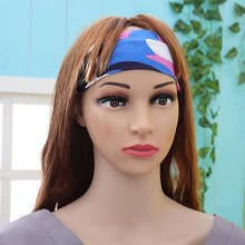 Women Men Print Sport Sweatband Headband Yoga Gym Stretch Head Band Hairband New Hot Sport(China)