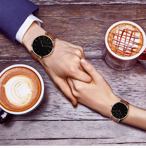 Image 2 - 2pcs/ set Japan Movement Leather Strap Casual Fashion Women Top Brand Luxury Waterproof For Couple Watches relogio feminino
