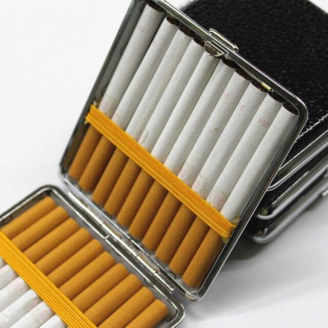 Caso di cuoio di Sigaretta Creativa e Personalizzata 20 Spiedi con Gomma Regalo