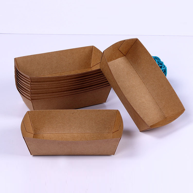 100PCS No.7 Eco Friendly Fried Chicken Popcorn Dessert Box,food package for party,hot dog/BBQ