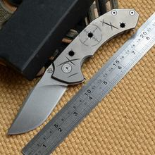 MG Tyrant N690 steel blade Bearing TC4 titanium folding knife camping hunting outdoor survival pocket knives EDC tool