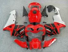 Литья под давлением обтекателя боди-кит для Honda CBR600RR 03 04 красный белый черный мотоцикл обтекатели комплект CBR600RR 2003 2004 LY81