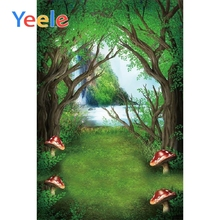 Yeele Fairy Tale Forest Photography Backdrops Children Backgrounds Photo Studio Mushrooms Elves Flowers Background Scenery
