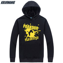 Mens Winter Parkour Its A Lifestyle Funny Print Sweatshirts Tracksuit For Men Hip Hop Hoodies With Hat Unisex Hoody Pullover