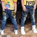 1-13years 2016 Niños Jeans Para Niños de Moda de Alta Calidad, Ajuste Delgado Coreano Pantalones Vaqueros de Los Niños, Los Bebés de los Pantalones, niños Boy Pantalones Vaqueros
