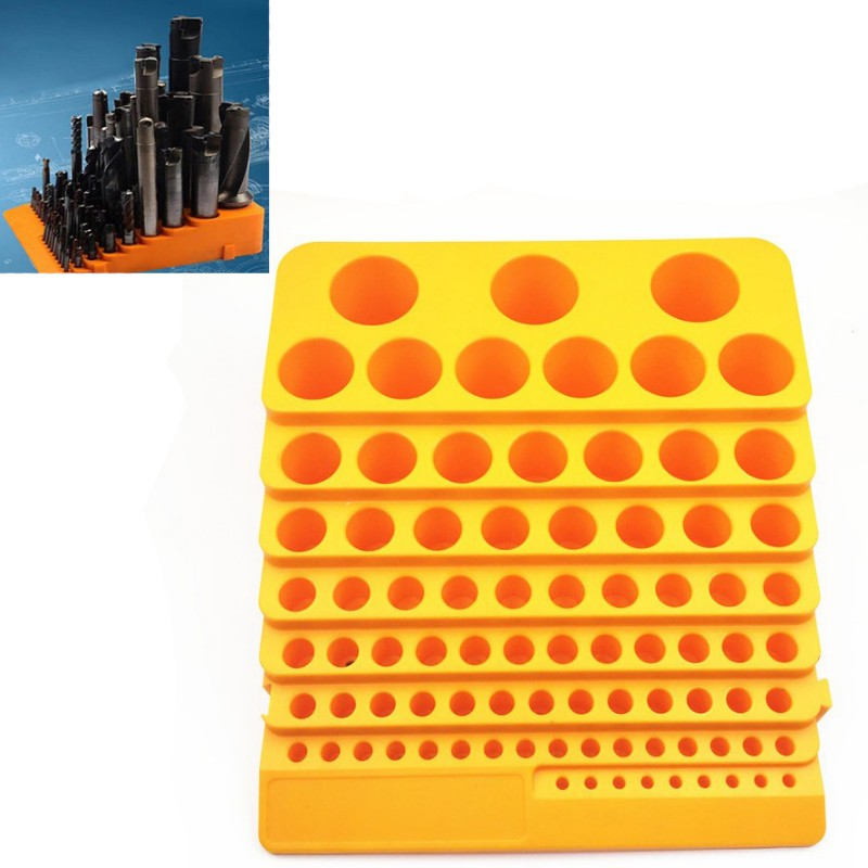 Tool Box Thickened Milling Cutter Reamer Drill Bit Storage Box Tool Accessories Storage Box  Placement Frame