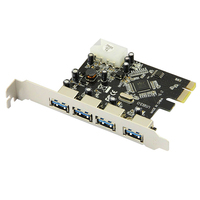 PROMOTION FAST USB 3 0 PCI E PCIE 4 PORTS Express Expansion Card Adapter