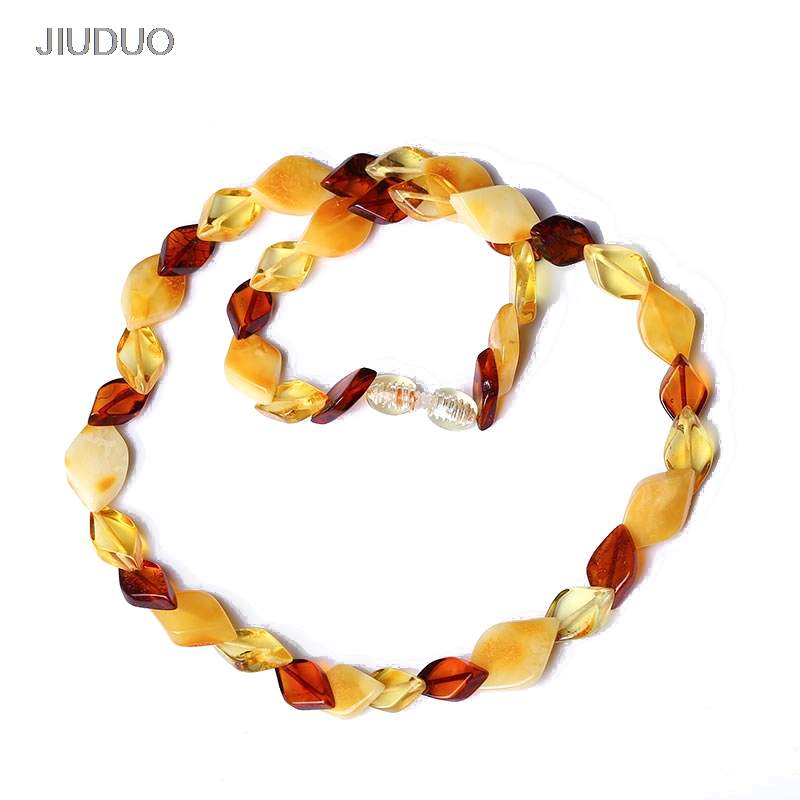 Popular natural amber necklace for women luxury amber necklaces Precious jewelry