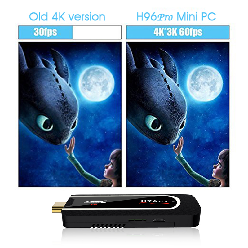 Image 4 - H96 Pro Amlogic S912 Octa Core TV Stick Android 7.1 2GB 16GB HDMI Wifi 2.4G 5.8G Miracast TV Dongle 4K 1080P HD Netflix Mini PC-in TV Stick from Consumer Electronics