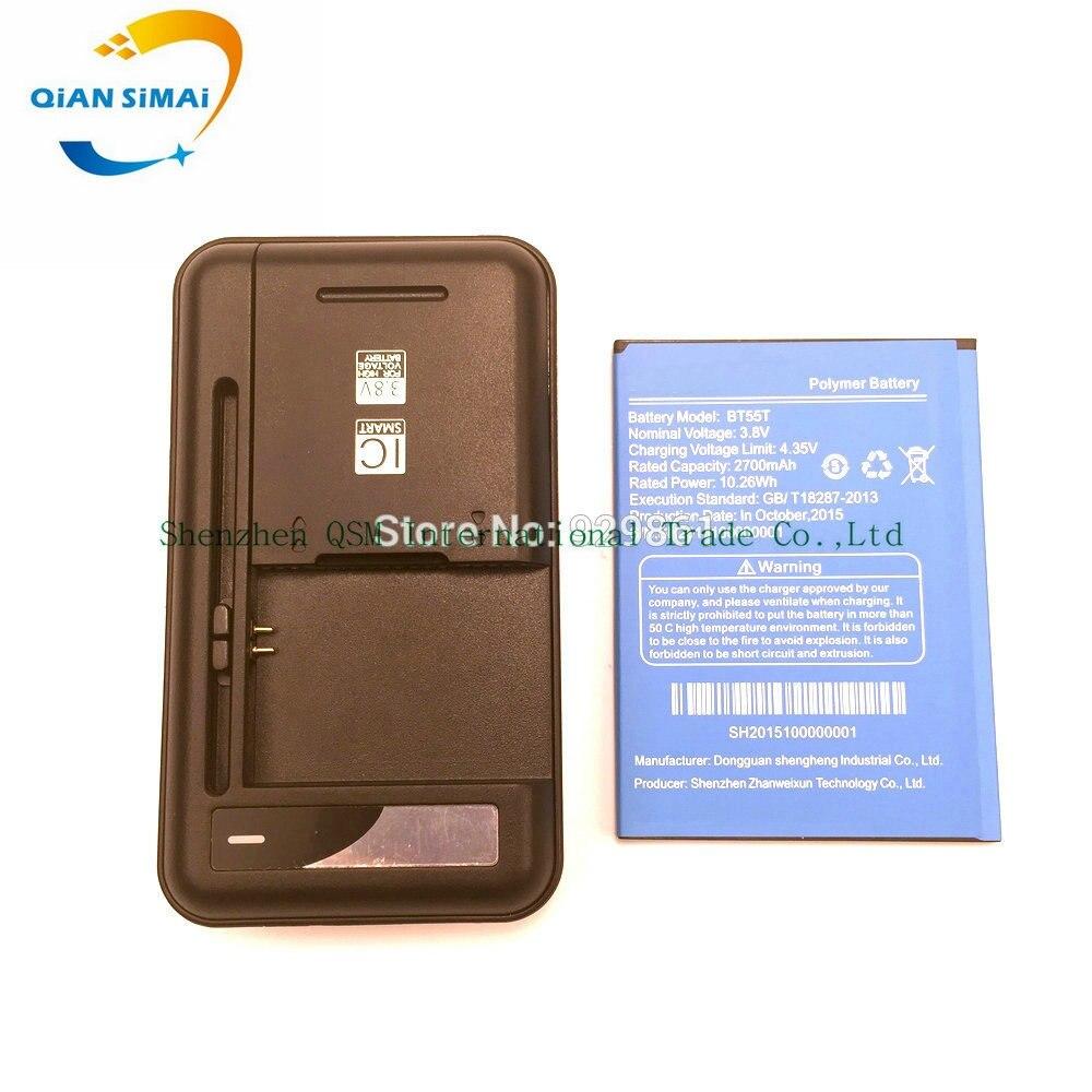 QiAN SiMAi 1PCS Universal <font><b>battery</b></font> Charger + 1PCS BT55T <font><b>battery</b></font> 2700mAh High quality for <font><b>ZOPO</b></font> <font><b>ZP999</b></font> mobile Phone