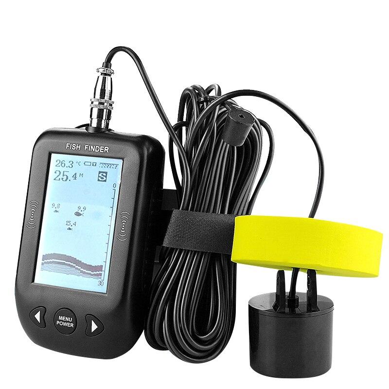 ABLD-Erchang Xf02 Portable Fish Finder 9M Wire Echo Sounder Alarm 0.6-100M Depth Transducer Sensor Sonar For FishingABLD-Erchang Xf02 Portable Fish Finder 9M Wire Echo Sounder Alarm 0.6-100M Depth Transducer Sensor Sonar For Fishing