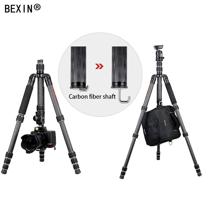 Image 3 - BX285C carbon fiber tripod portable lightweight tripod travel shooting camera tripod foldable pocket tripod for dslr cameraprofessional tripod monopodtripod monopodprofessional tripod -