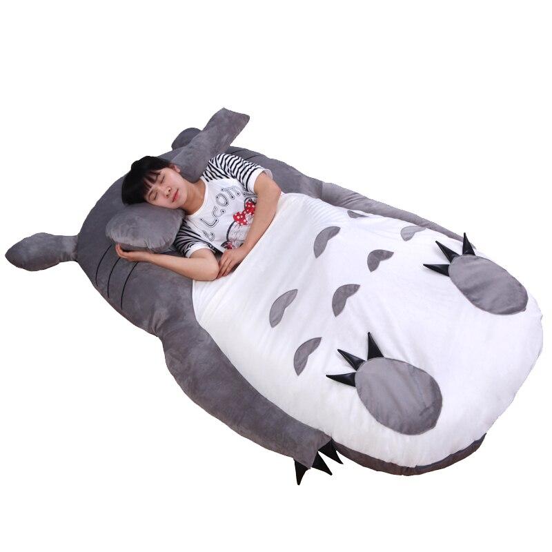 1.2x1.8 м Мой сосед Тоторо татами спать погремушка диван один матрас для дети теплый мультфильм татами ребенок спальный мешок ...
