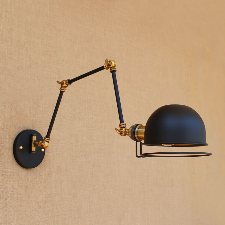 Swing Long Arm Vintage Wall Lamp Adjustable Up Down LED Edison Loft Style Industrial Wall Sconce Lights Appliques Pared glass arm long light retro wooden wall lights led edison style loft industrial wall sconce vintage wandlamp appliques pared