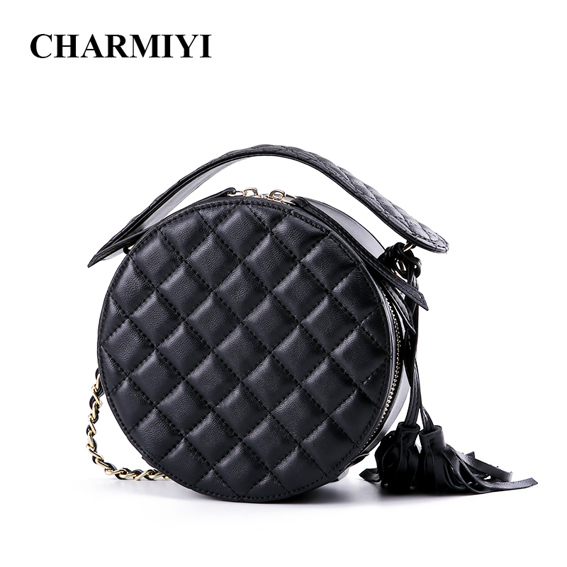 2d4a74ffb Detail Feedback Questions about CHARMIYI Brand Fashion Round Women Messenger  Bags Genuine leather Shoulder Circular Bag High Quality Small Crossbody Bags  ...