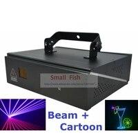 Comprar DMX + ILDA + 2D Multi Color 1W RGB luz láser de animación, luces de DJ, iluminación de escenario, proyector láser máquina efecto Disco