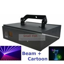 DMX+ILDA+2D Multi Color 1W RGB Beam Animation Laser Light / DJ Lights / Stage Lighting / Laser projector Disco Effect Machine