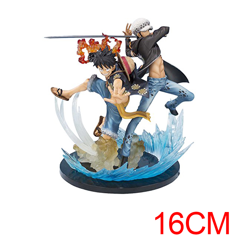 Anime One Piece Monkey D Luffy Trafalgar Law Fighting Type Action figure 5th PVC Action Figure Collectible Model Toy approx 17cm anime one piece monkey d luffy gear fourth pvc action figure collection model toy