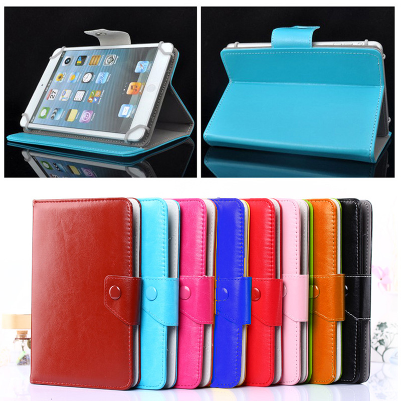 все цены на PU Leather Stand case Cover For Alcatel OneTouch Pixi 4 (7) 3G fundas para tablet 7 universal bags for kids M2C43D онлайн
