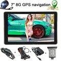 Lo nuevo de 7 Pulgadas Del GPS Del Coche Sistema de Navegación de ALTA DEFINICIÓN Cámara de Opinión Posterior del Revés de Copia de seguridad Inalámbrica Bluetooth 8G Sistema de Aparcamiento Marcha Atrás