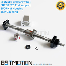 SFU2505 Ballscrew 300 400 500 600 700 800 900 1000 1100 1200 1500Mm + 2505 Kogelmoerbehuizing + SFU2505 Moer beugel + FK20 FF20 Blok + Koppeling