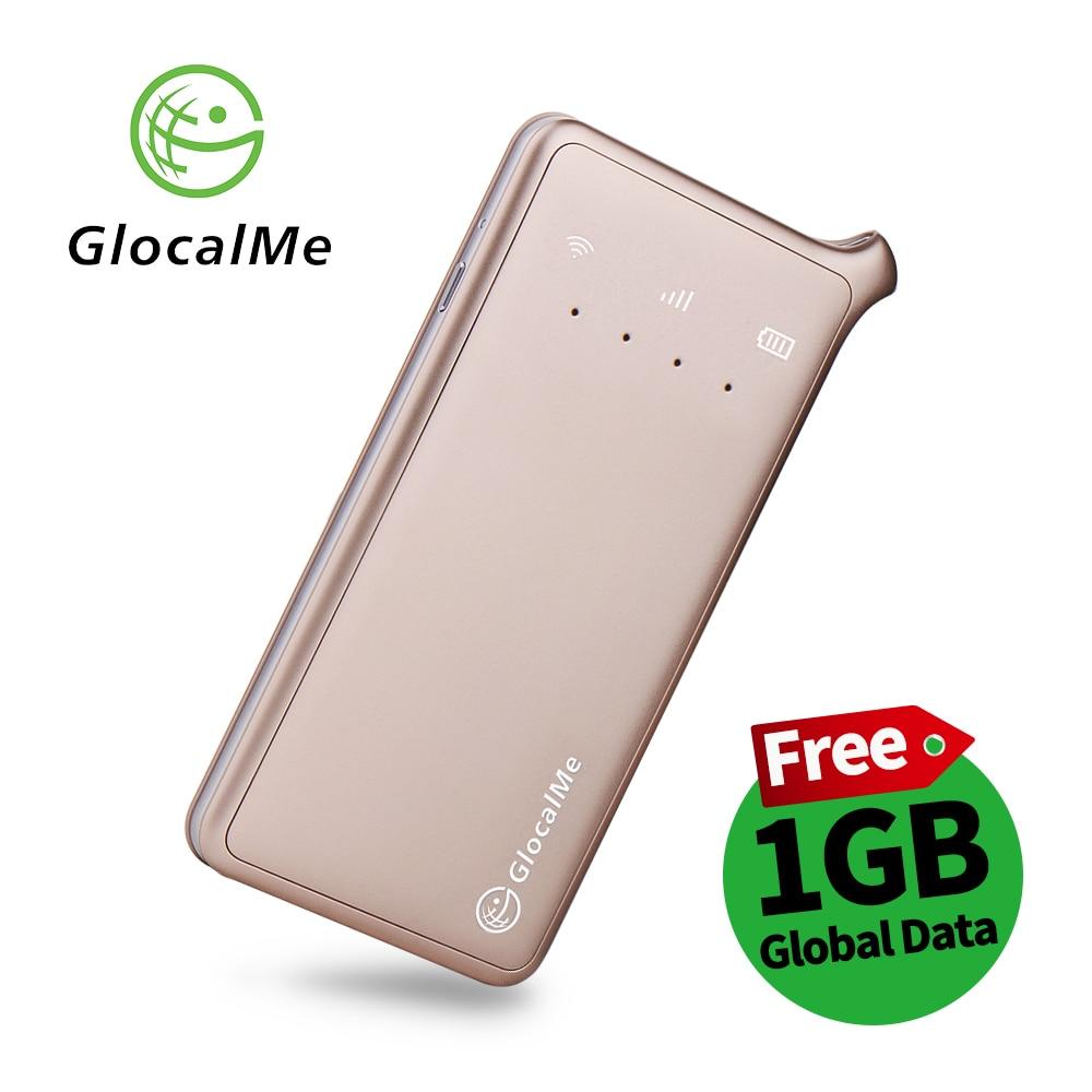 GlocalMe U2 4G Hotspot WiFi mondial avec 1 GB de données mondiales en itinérance gratuite dans plus de 100 pays-Gold