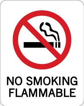 Не курить горит, 4x5 дюймов, самоклеющиеся этикетки стикер, код товара pl16