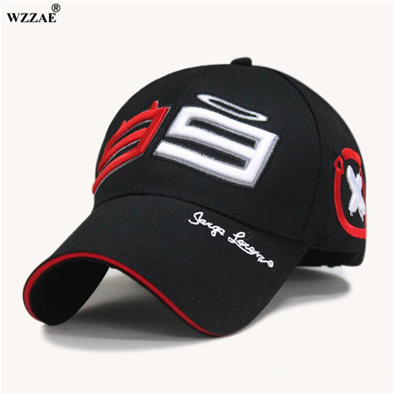 WZZAE Moto Gp 99 Jorge Lorenzo Hats For Men Racing   Cap   Cotton Brand Motorcycle Racing   Baseball     Caps   Car Sun Snapback Black Hats