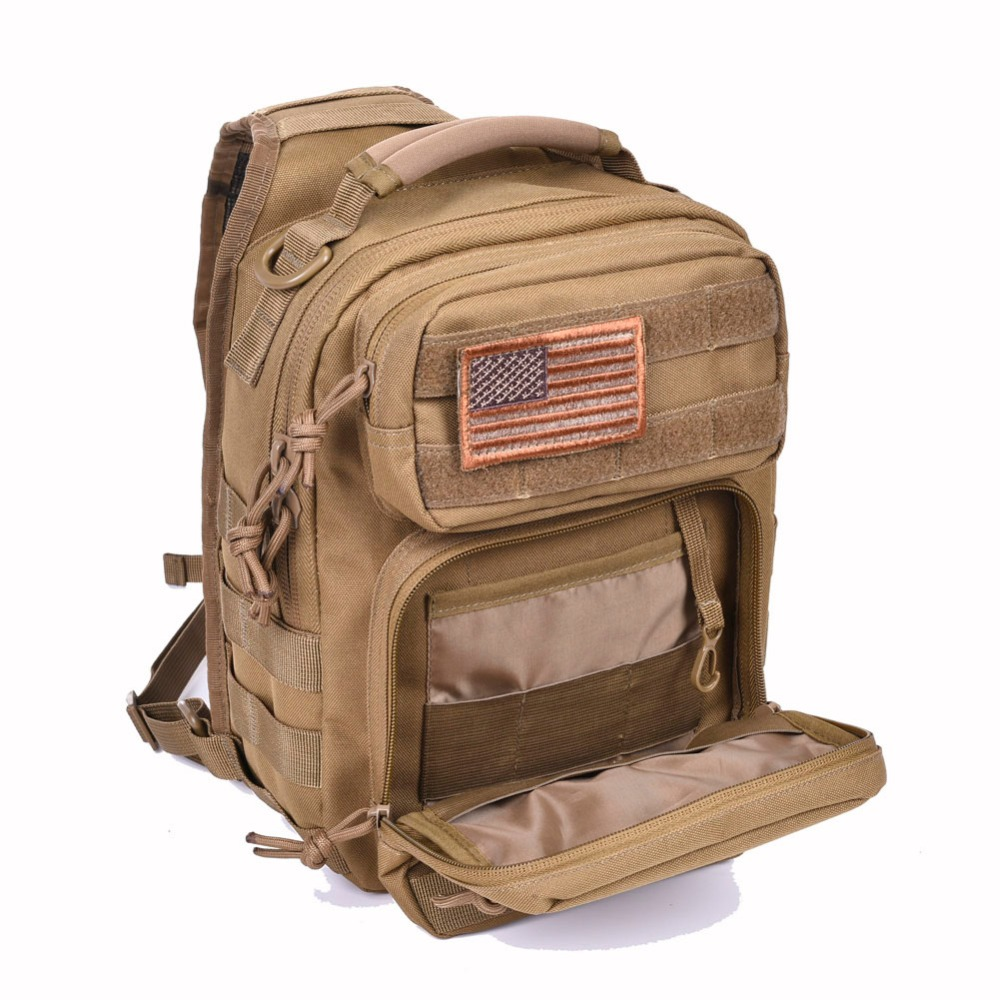 4e90ee69be0 REEBOW TACTICAL Rover Shoulder Sling Bag Pack Military Backpack Molle  Assault Range Bag Everyday Carry Diaper Day Pack Small-in Climbing Bags  from Sports ...