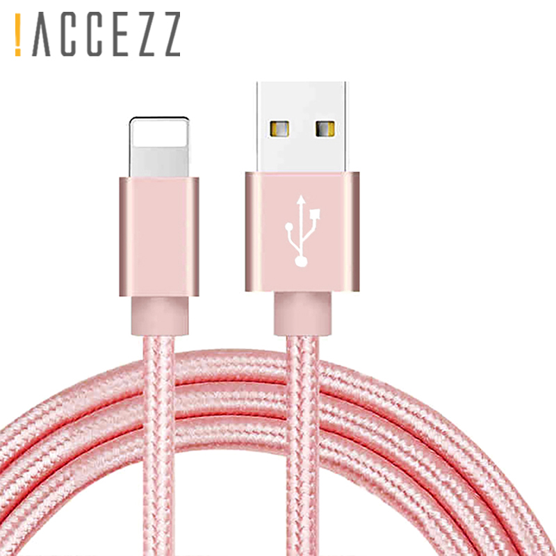 !ACCEZZ Usb Charging Cable For Iphone X XS MAX XR 8 7 6s 6Plus Charge Data Cord For Ipad Mini Nylon Lighting Fast Charger Cables|Mobile Phone Cables| |  - AliExpress