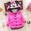 New Minnie Girls Jacket Cotton Keeping Warm Winter Coat Chirdren Character Lovely Hoodies Kids Clothing