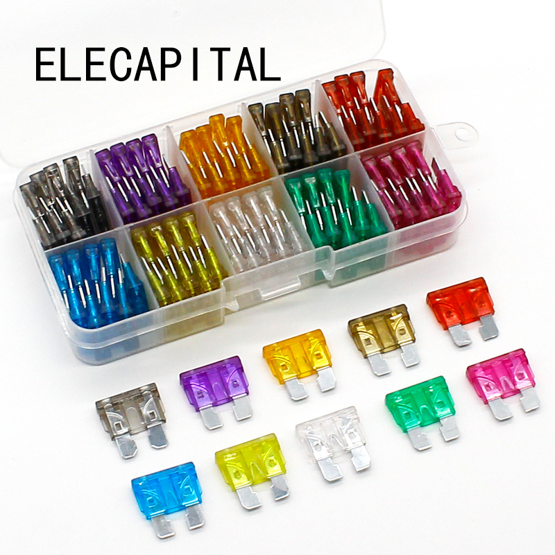 New standard 100pcs Auto Automotive Car Boat Truck Blade Fuse Box Assortment 2A 3A 5A 7.5A 10A 15A 20A 25A 30A 35A Free Shipping mini blade fuse assortment auto car motorcycle suv fuses kit apm atm 5a 10a 15a 20a 25a 30a 35a regular size blade