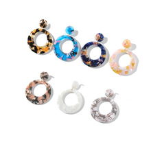 Acrylic acetate sheet earrings are perfect for women with round retro hollow E24