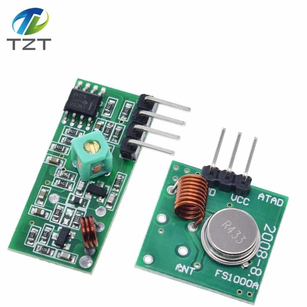 433Mhz RF Wireless משדר מודול ומקלט ערכת 5V DC 433MHZ אלחוטי עבור Arduino פטל Pi/ ARM/MCU WL Diy קיט