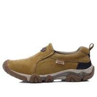 2017 עור החדש סתו חורף מגפי גודל 11 נעל גומי הרי אדם מעקב Ywello נעלי הליכה נעלי הליכה Mens חיצוני
