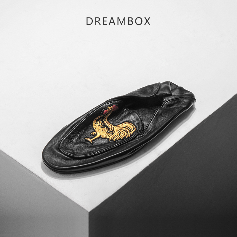 dreambox Europe and the United States hand-embroidered loafers sheepskin soft bottom shoes casual shoes dreambox europe and the united states men s wear thick soled shoes horsehair breathable leather shoes