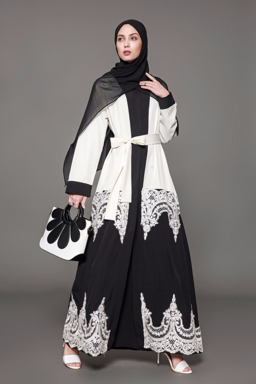 2019 Turkey kaftan Muslim open abaya dress size S 5XL