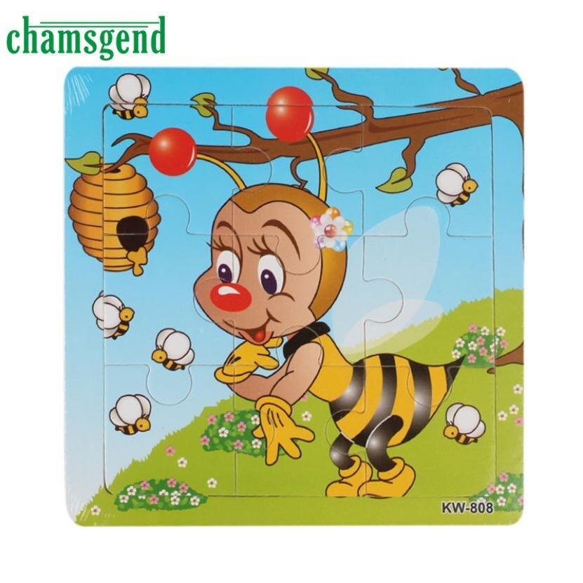 TS Пчелы Деревянные Дети дети Jigsaw Образование И Обучение Головоломки Игрушки АВГ 25 Подарок