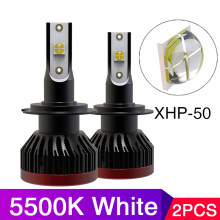 5500k Car headlight Mini H7 LED Bulbs H4 LED HIR2 H8 H11 XHP70 50 Chip Headlamps Kit 9005 9006 HB4 Fog light 12V LED 20000LM(China)