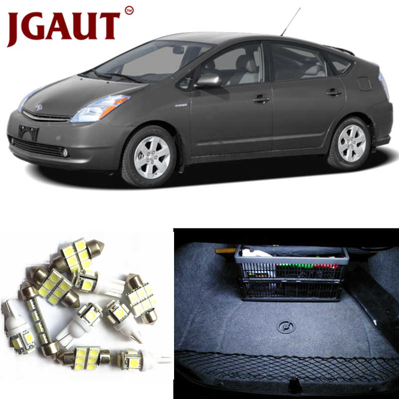 JGAUT For 2004-2015 Toyota Prius White Blue Red LED Lights Interior Package Kit Map Dome Licens Trunk/Cargo Step/Courtesy Light