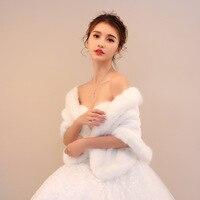 Cheap Fashion Wedding Jacket Bride Wraps Winter Wedding Dress Wraps Bolero Bridal Coat Accessories Wedding shawl