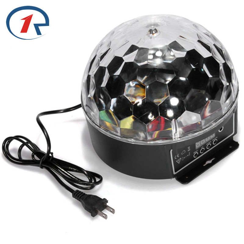 ZjRight DMX512 DJ LED RGBWP stage light Crystal Magic Ball Color Change Effect Pub KTV Disco Sound Active holiday party lighting mini rgb led party disco club dj light crystal magic ball effect stage lighting