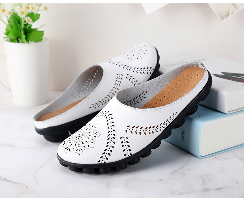 XY 991 Cut Outs Women's Summer Flats Shoes -5