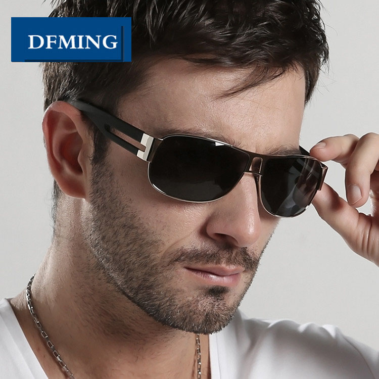 DFMING Male Brand Sunglasses Men Polarized Sun Glasses