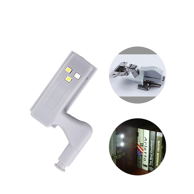 Charming 10PCS LED Hinge Night Lights For Cabinet Cupboard Closet Wardore Door  Lighting Automatic Switch For Home
