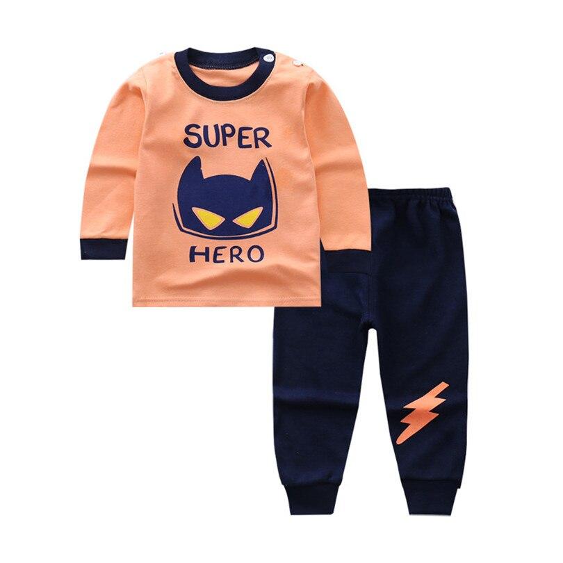 2018 frühling Baby Kinder Pyjamas Kleidung Set Nachtwäsche Cartoon Herbst Thermische Unterwäsche Jungen Mädchen Kinder Nachtwäsche Homewear