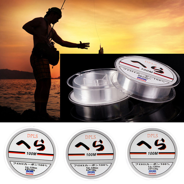 Toply Super Strong 100m Nylon Fishing Line Monofilament Series Transparent Fluorocarbon Fishing Line Fishing Tackle